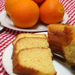 Moroccan Meskouta Orange Cake.