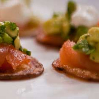 Chips with Smoked Salmon and Avocado Salsa