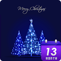블루 크리스마스 카카오톡 테마 icon