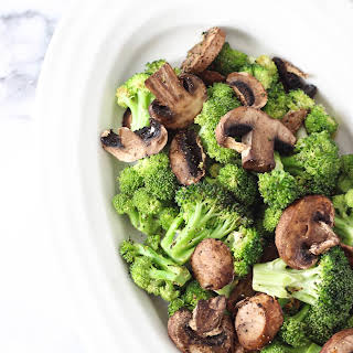 Roasted Lemon Garlic Broccoli & Mushrooms.