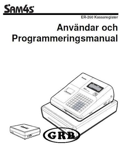 Manual Sam4s ER260