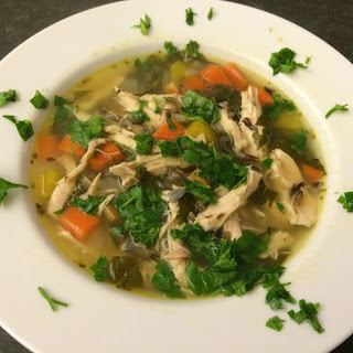 Super Easy Chicken and Wild Rice soup.