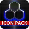 icon pack HD 3D glow blue icon