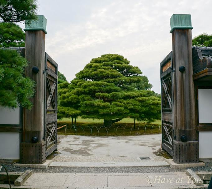 Nijo Castle garden entrance
