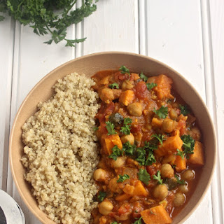 Sweet Potato and Chickpea Stew.