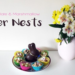 White Chocolate & Marshmallow Easter Nests - Baking with a Toddler.