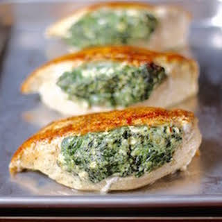 Spinach Stuffed Chicken Breasts.