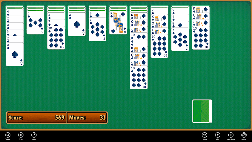 Simple Spider Solitaire Screenshot