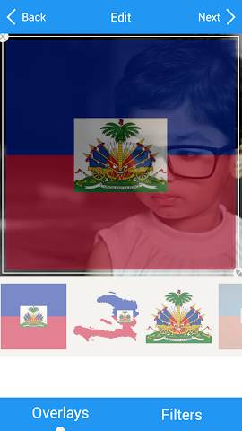 android Selfie with Haiti flag Screenshot 3