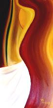 Photo: Die Anziehung, Öl auf Leinwand, 2005, 40 x 80 cm