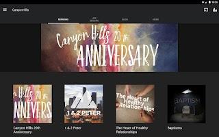 Screenshot of Canyon Hills Community Church