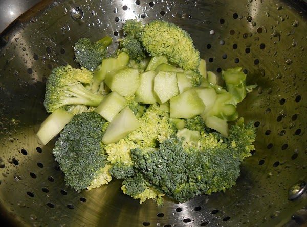 Drain the broccoli and set aside (do not cook).