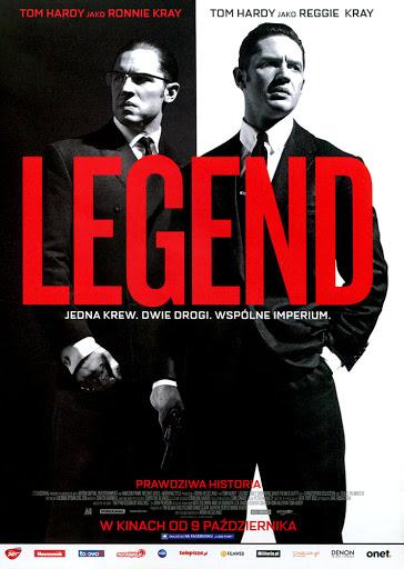 Przód ulotki filmu 'Legend'