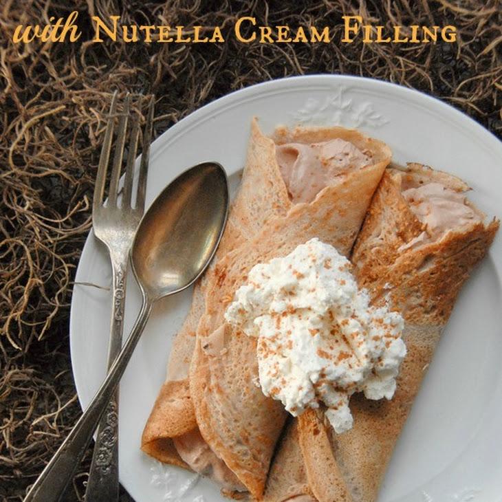 Italian Chestnut Crepes with Nutella Cream Filling {Gluten Free} Recipe