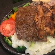 Beef Steak with Chicken & Cheese