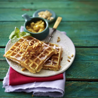 Pine Nut and Buttermilk Waffles with Pineapple
