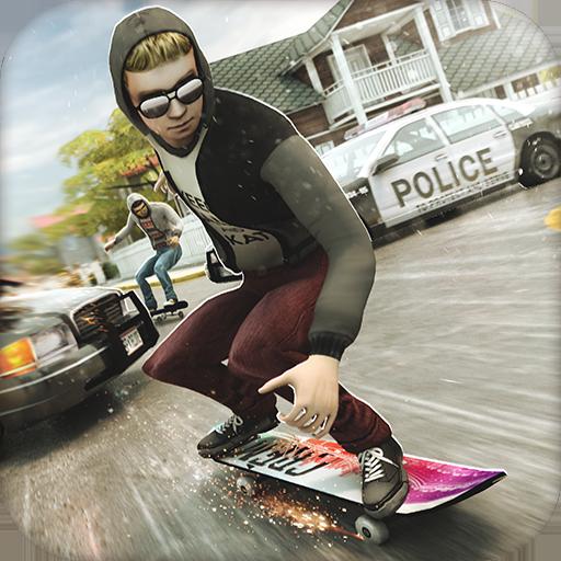 滑板 逃亡 大冒險 | 滑冰 賽車 遊戲 (中文 大賽 版) 街機 App LOGO-APP開箱王