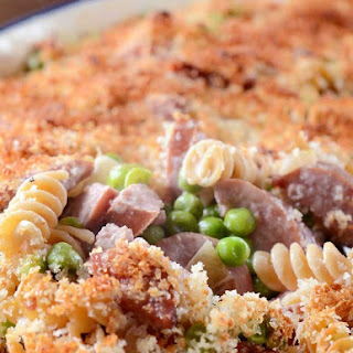 Kielbasa and Pea Casserole