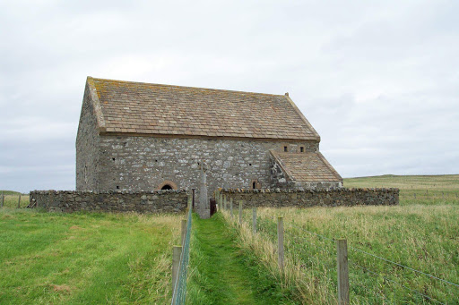 St Moluag's church, a 13th century temple in the village of Eoropie in Ness on the Isle of Lewis in Scotland.