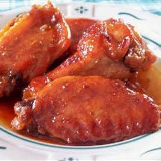 Sweet and Gooey Chicken Wings.