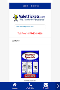 Valet Tickets .Com- screenshot thumbnail