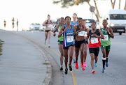 Kesa Molotsane (#1) and Glenrose Xaba (#2) in the lead during the 2nd Spar Women's Challenge at Pollok Beach on May 06, 2018 in Port Elizabeth, South Africa.  File photo