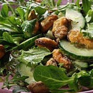 Salade met gebakken Thaise mosselen