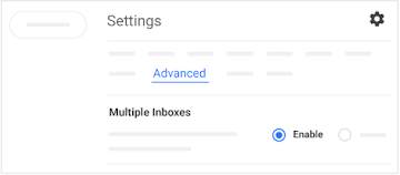 Click Advanced to enable multiple inboxes