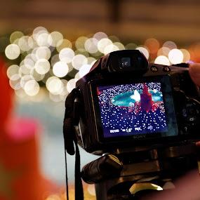 shooting christmas by Darko Kovac - Public Holidays Christmas ( lights, sony, candle, coratia, camera, christmas, blur, zagreb, photography, shooting,  )