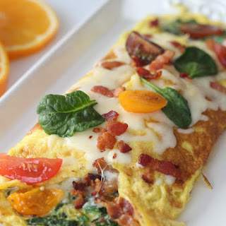 Spinach and Bacon Omelet