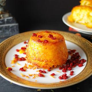 Persian Baked Saffron Rice - Tahchin
