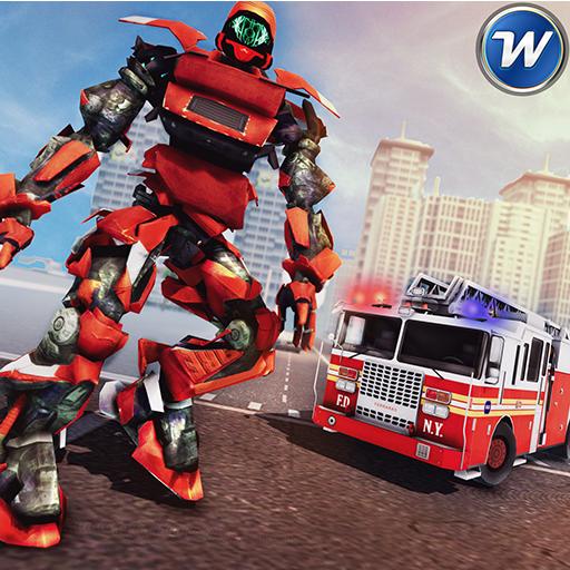 Robot Transformation City Wars - Fire Truck Sim (game)