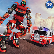 Robot Transformation City Wars - Fire Truck Sim APK for Bluestacks