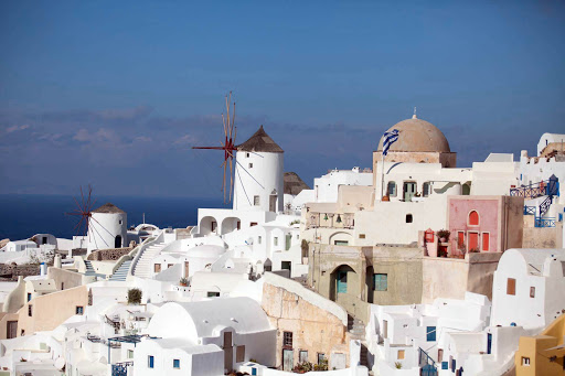 windmills-Oia-Santorini.jpg - Two windmills stand out in a cluster of sugar-cube buildings in Oia at the north end of Santorini.