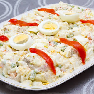 Russian Salad with Tuna (and Shrimps).