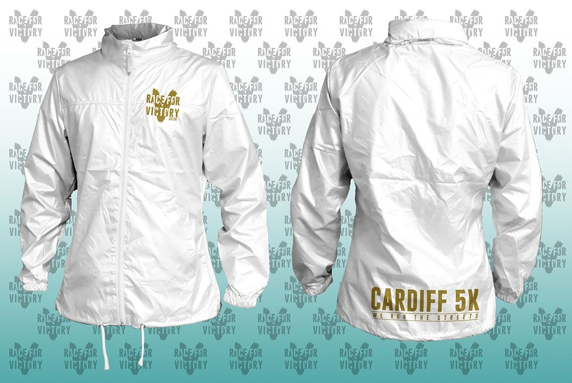 Cardiff 5K - White Rain Jacket