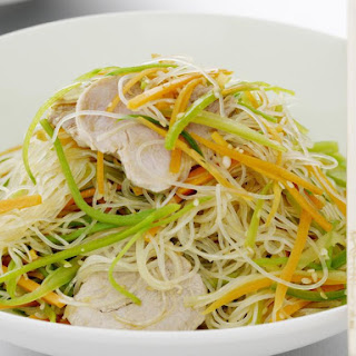 Pork, Snow Pea and Sesame Noodle Salad