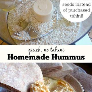 Homemade Hummus (Using Sesame Seeds Instead of Purchased Tahini)