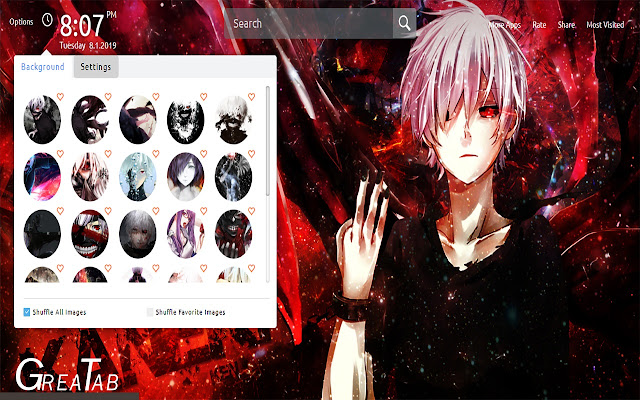 Tokyo Ghoul Wallpapers Theme New Tab|GreaTab