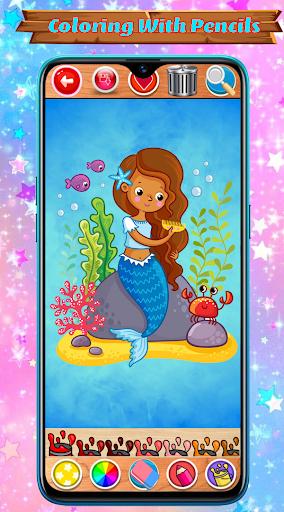 Mermaid Coloring Book Glitter screenshot 3