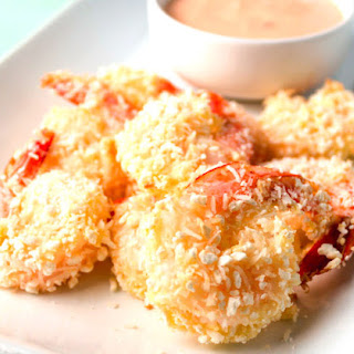 Baked Coconut Shrimp with Spicy Mayo Dipping Sauce.