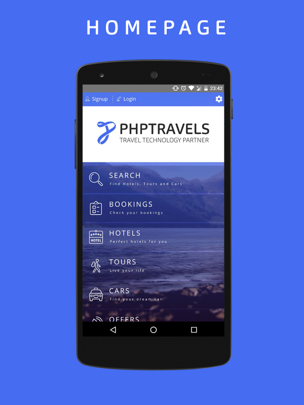 PHPTRAVELS- screenshot