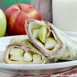 Ham Apple and Provolone Cheese Wraps