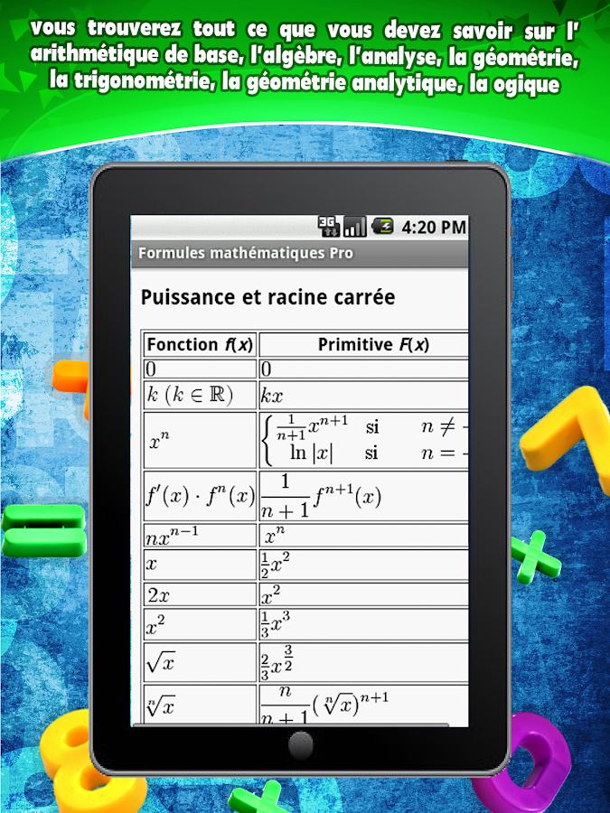 Formelsammlung Mathematik Pro- screenshot