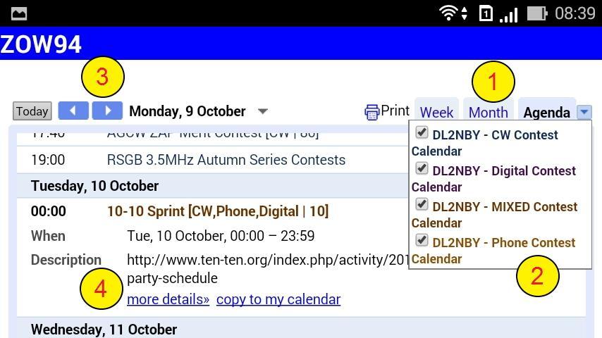 Ham Contest | Radio Calendar- screenshot
