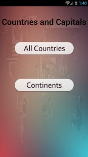 Countries and Capitals - náhled