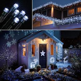 Instalatie LED pentru exterior cu incarcare solara, alb rece