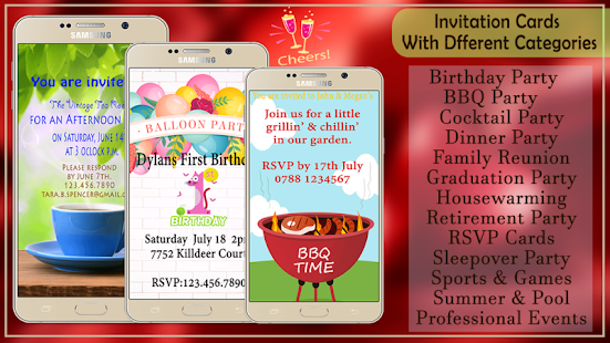 Party invitation card maker apps on google play screenshot image stopboris Gallery