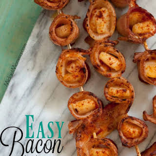 Bacon Wrapped Scallops.