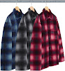 shadow plaid fleece shirt